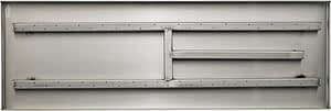 """Top View Of The 30"""" Rectangular Stainless Steel Fireplace Pan Burner"""
