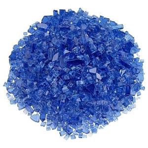 "Classic Fire Glass 1/4"" Cobalt Blue - 10 lb"
